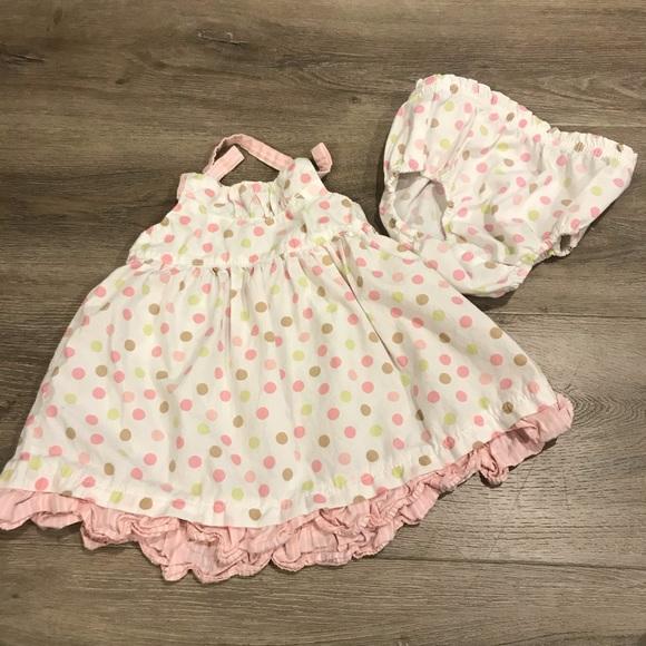Infant Girl OSHKOSH B/'Gosh Floral Ruffle Jumper NWT $34 Size 6 Mos.